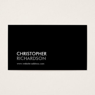 MODERN PROFESSIONAL No. 3 Business Card