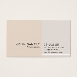 Modern Professional Plain Elegant Color Harmony Business Card