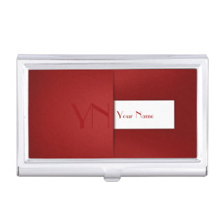 Modern Professional Red Case Business Card Holder