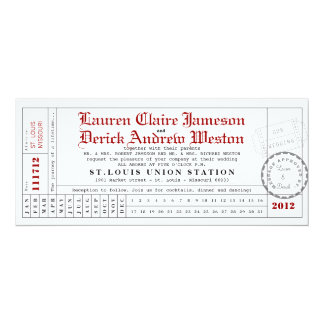 Modern Punch Card Tea Length Invitation