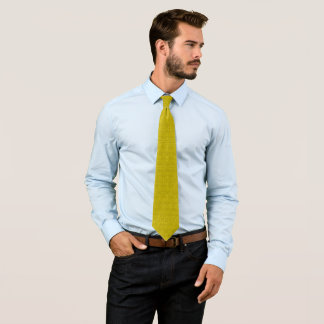 Modern Pure Gold  Pasmore Ripple Pattern Woven Tie