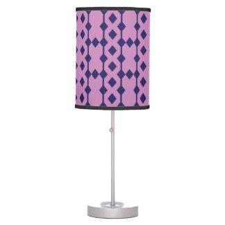 Modern Purple and Blue Diamond Patterned Lamp