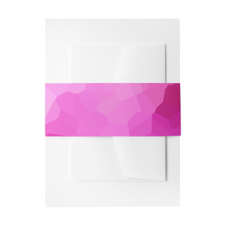 Modern Purple and Pink Stained Glass Mosaic Invitation Belly Band