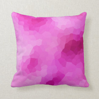 Modern Purple and Pink Stained Glass Mosaic Throw Pillow