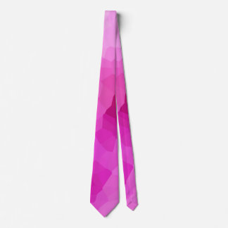 Modern Purple and Pink Stained Glass Mosaic Tie