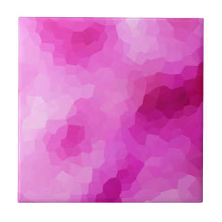 Modern Purple and Pink Stained Glass Mosaic Tile