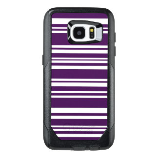 Modern Purple and White Stripes OtterBox Samsung Galaxy S7 Edge Case