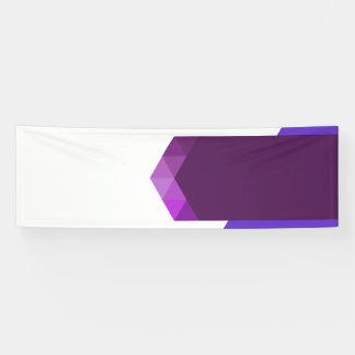 Modern Purple Banner Design For Web and Print