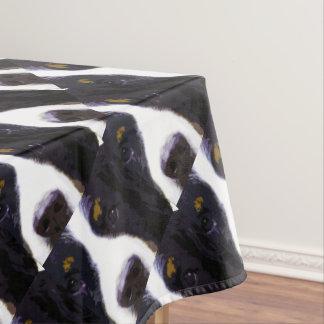 modern purple Bernese Mountain Dog Tablecloth