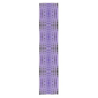 Modern Purple Black design Short Table Runner