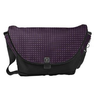 Modern Purple_Black Messenger Bag Outside Print