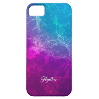 Modern Purple & Blue Ombre Polygonal Background 4 iPhone 5 Cases
