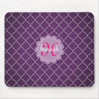 Modern Purple Bristol Tiles Personalized Trendy Mouse Pad
