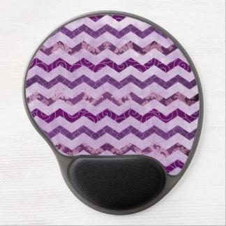 Modern Purple Chevron Pattern Gel Mouse Pad