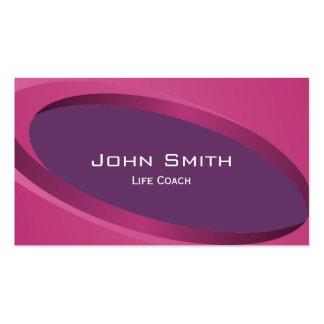 Modern Purple Curves Life Coach Business Card