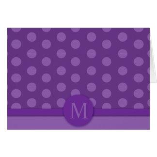 Modern Purple Dot Note Card (Melanie's Order)