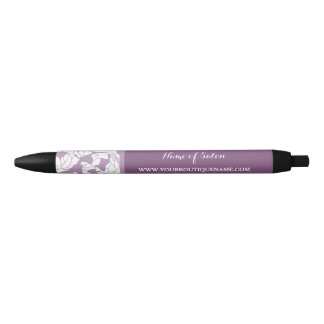 Modern Purple Floral Hair and Beauty Boutique