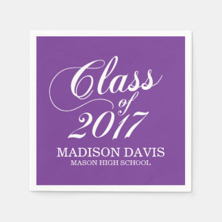 Modern Purple | Graduation Napkins Disposable Napkin