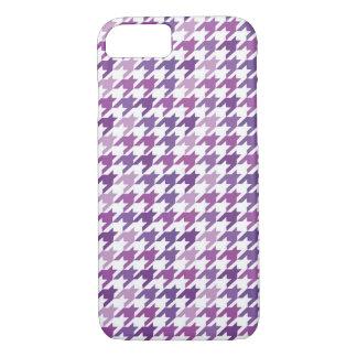 Modern Purple Houndstooth Pattern. iPhone 7 Case
