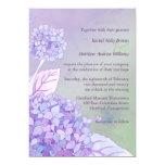 """Modern Purple Hydrangeas Formal Floral Wedding 5"""" X 7"""" Invitation Card"""