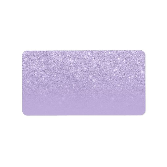 Modern purple lavender glitter ombre colour block label