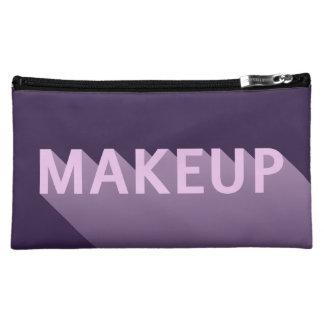 Modern Purple Lavender Makeup Typography Cosmetic Bag
