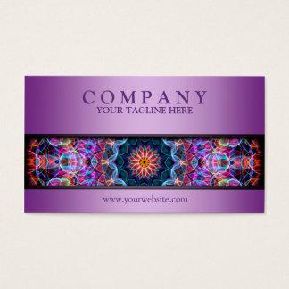 modern Purple Lotus mandala purple Business Card