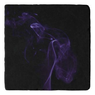 Modern Purple Smoke Design Trivet