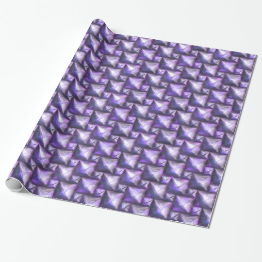 Modern Purple Squares Wrapping Paper