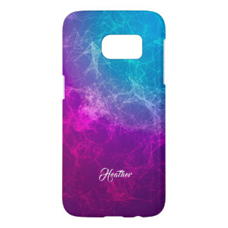 Modern Purple To Blue Ombre Polygonal Background 2 Samsung Galaxy S7 Case