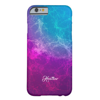 Modern Purple To Blue Ombre Polygonal Background Barely There iPhone 6 Case