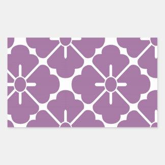 Modern purplish flower pattern