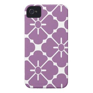 Modern purplish flower pattern Case-Mate iPhone 4 cases