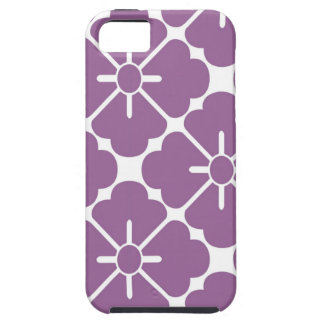 Modern purplish flower pattern iPhone 5 cover