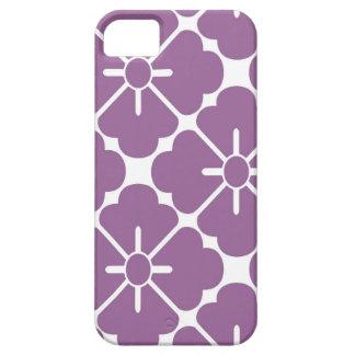 Modern purplish flower pattern iPhone 5 covers
