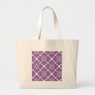 Modern purplish flower pattern large tote bag