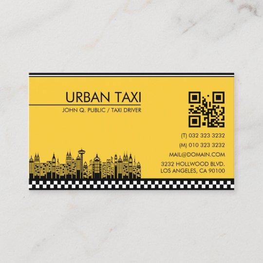 Modern qr code cab taxi driver business card zazzle modern qr code cab taxi driver business card colourmoves