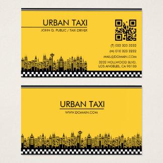 Modern QR Code Cab Taxi Driver Business Card