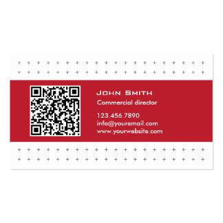 Modern QR Code Commercial Director Business Card