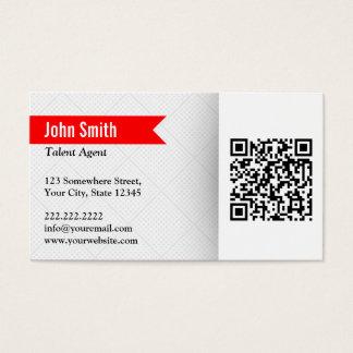 Modern QR Code Talent Agent Business Card