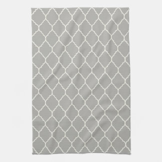 Modern quatrefoil kitchen towel