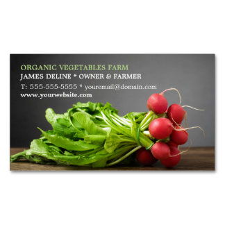 Modern Radish/ Organic Farm Magnetic Business Card