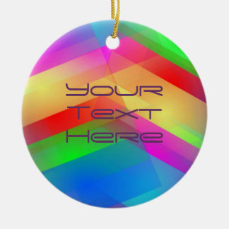 Modern Rainbow Abstract Ceramic Ornament