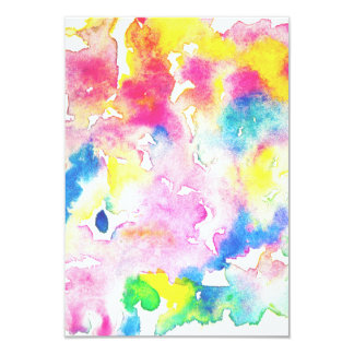 Modern rainbow abstract watercolor splatters card