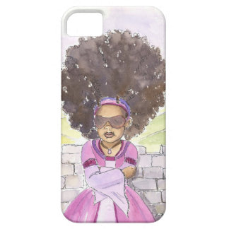 Modern Rapunzel Afro iphone case