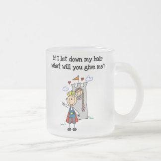 Modern Rapunzel Frosted Glass Coffee Mug