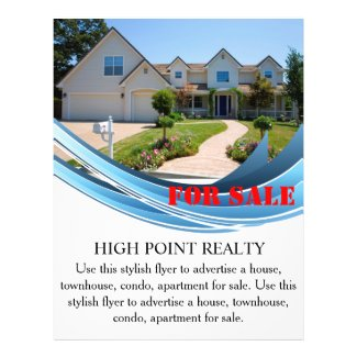 Modern Real Estate Realtor For Sale Flyer