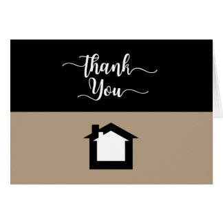 Modern Real Estate Thank You Cards