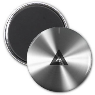 Modern Realistic Shiny Steel Texture Magnet