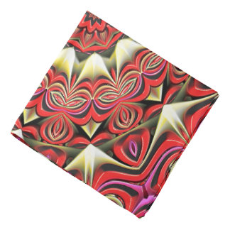 Modern Red Abstract Pattern Bandana